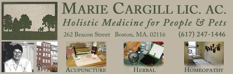 The Marie Cargill Web Site offers acupuncture, herbal medicine, and homeopathy for people and pets.